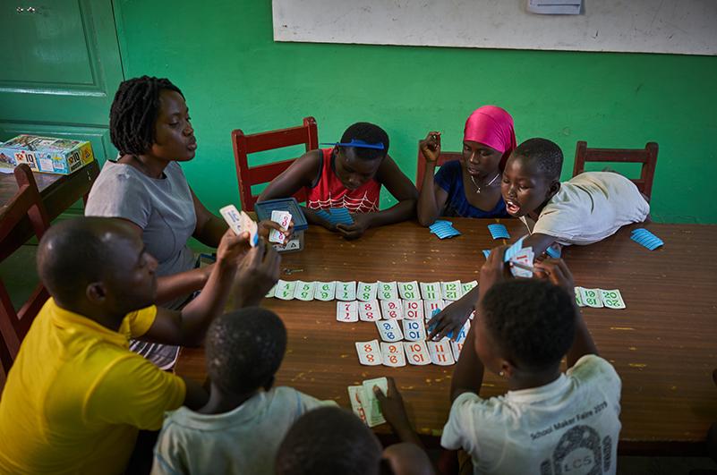 Chiildren playing - Accra